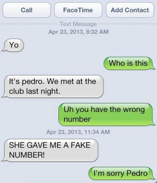 wrong number fails 5