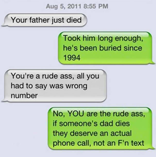funniest replies to wrong number 1