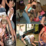 drunk girls party hard