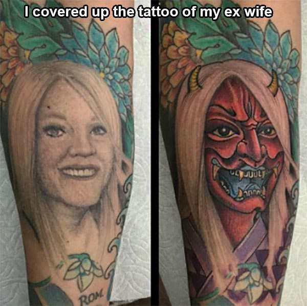 Exes Tattoo Coverups 8