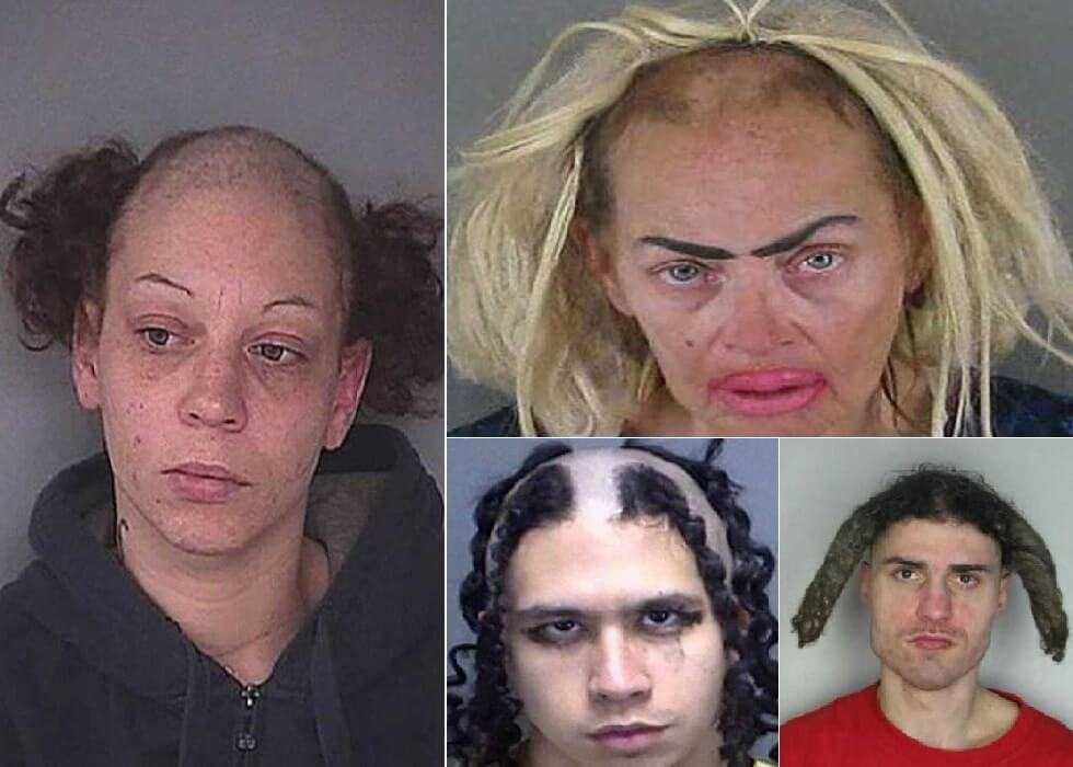 Horrendous Mugshot Hairdos